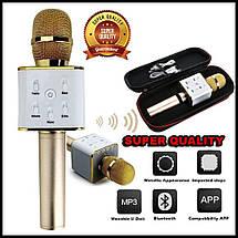 Микрофон-колонка караоке Q7 с чехлом (2 динамика + USB + Bluetooth), фото 2