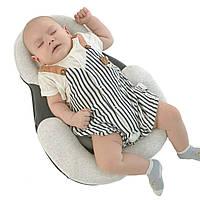 Подушка для новорожденных Baby Sleep Positioner Серая