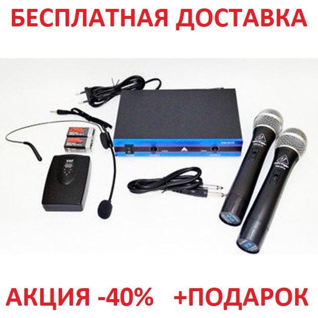 Профессиональный радио-микрофон Shure WM-501R dual professional UHF radiomicrophone Blister case