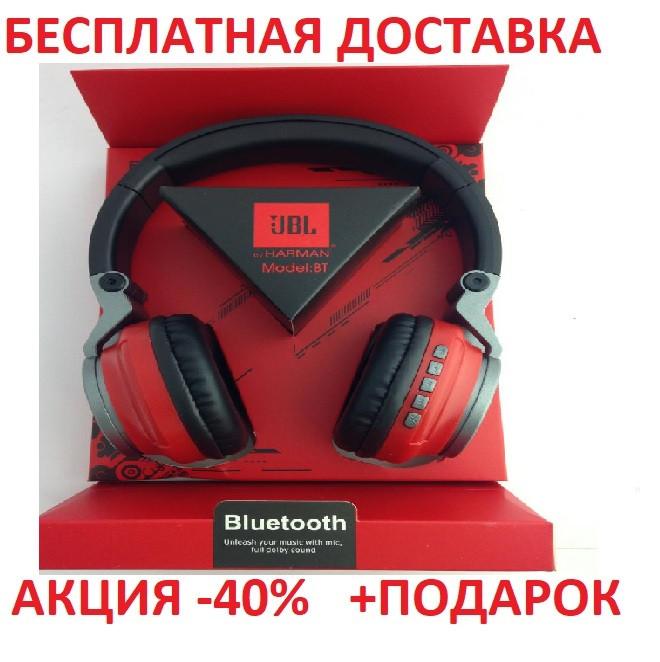 Наушники беспроводные JBLBT-6 RED (блютус+плеер) S400 беспроводная гарнитура для телефона