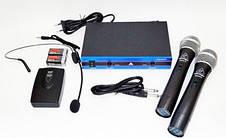 Профессиональный радио-микрофон Shure WM-501R dual professional UHF radiomicrophone Blister case, фото 2