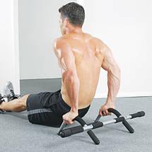 Турник Iron Gym брусья съемный тренажер в дверной проём, фото 3