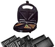 Мультимейкер 3 в 1, гриль, вафельница, сендвичница DSP KC1049, фото 3