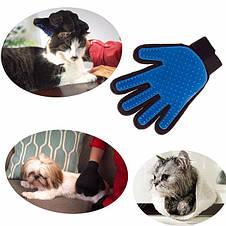 Щетка перчатка для вычесывания шерсти домашних животных True Touch, фото 3