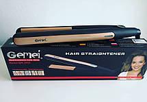 Профессиональный выпрямитель для волос Gemei GM-2955 с турмалиновым покрытием, фото 3