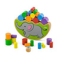 Настольная игра Viga Toys Балансирующий слон (50390)