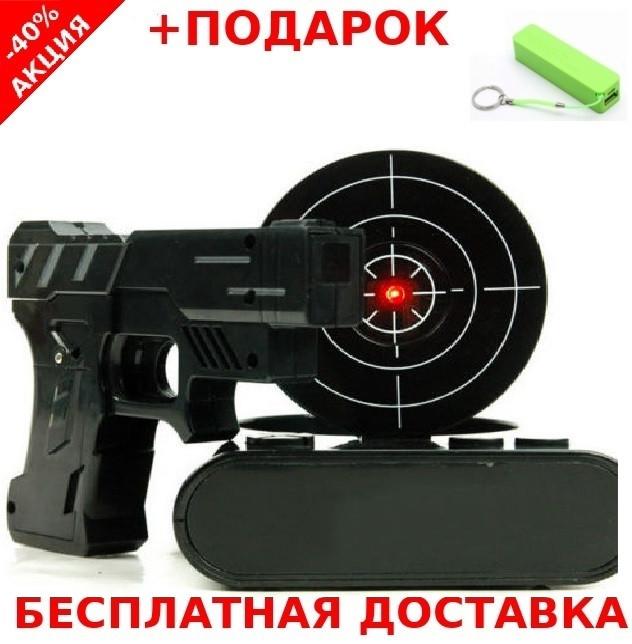 Gun Alarm Clock Часы будильник с мишенью и лазерным пистолетом