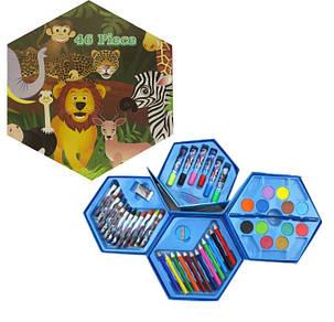 """Набор для творчества и рисования """"Саванна"""" 46 предметов для детей от 3 лет, фото 2"""