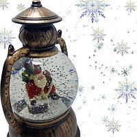 """Декоративный новогодний фонарь круглый """"Санта с подарками"""" (NG-WDL1610)"""