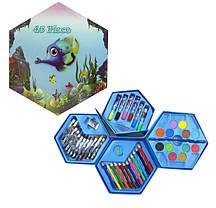"""Набор для творчества и рисования """"Саванна"""" 46 предметов для детей от 3 лет, фото 3"""