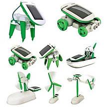 Игрушка-конструктор для ребенка Solar Robot 6 в 1 MAT CASE на солнечной батарее Green energy, фото 3