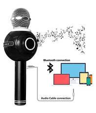 Magic Karaoke Wster WS-878 белый беспроводная портативная колонка, фото 3