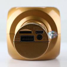 Беспроводная портативная колонка + караоке микрофон 2 в 1 Wster WS-1816 белая, фото 2