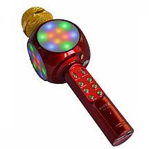 Беспроводная портативная колонка + караоке микрофон 2 в 1 Wster WS-1816 белая, фото 3
