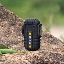 Плазменная электрозажигалка для прикуривания Explorer F120x Original size dual electric arc lighter, фото 2