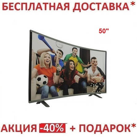 "Телевизор  50"" Smart изогнутый (Android 7.1 (1/4)) 4k UHD, фото 2"