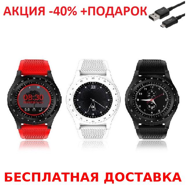 Смарт часы с Камера Bluetooth Smartwatch L9 смарт глянец часы  трекер Умные часы фитнес часы