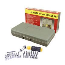 Набор инструмента AIWA PT/DR-18 41-Piece bit and Socket Set, фото 2