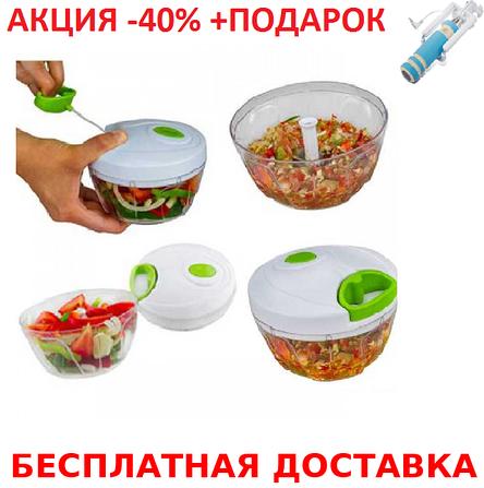Ручной измельчитель овощей и фруктов Nicer Dicer Plus Speedy многофункциональный, фото 2