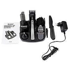 Машинка  для стрижки волос KEMEI KM-600 SILVER тример мужской 11 В 1 /*-, фото 3