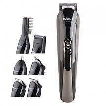 Машинка  для стрижки волос KEMEI KM-600 SILVER тример мужской 11 В 1 /*-, фото 2