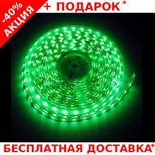 Светодиодная лента LED STRIP 5050 - 12W Green зеленая для внутренних работ 60 диодов / метр