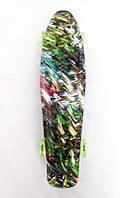 Пенни Борд Best Board 25, двухсторонний окрас, колёса PU светятся Разноцветный