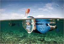 Маска для дайвинга плавания Tribord Easybreath Blue snorkeling mask, фото 2