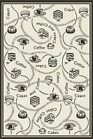 Безворсовый ковер-рогожка Karat Natura черный с серым