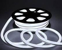 Гибкий светящийся неоновый шнур LED Neon Flex Strip Cold White 5m неоновая лента для декора 12V, фото 2