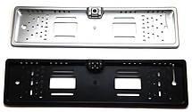 Универсальная рамка для номера с камерой заднего хода EU Car Plate Camera 4 LED Silver, фото 2