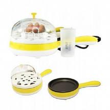 Яйцеварка сковородка электрическая Multifunction Steaming device  Mini, фото 3