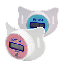 Детская Пустышка-термометр Соска-термометр Градусник детский BABY TEMP Original size, фото 3