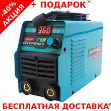 Профессиональный сварочный аппарат инверторного типа GRAND MMA-360 с LED - индикацией