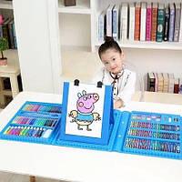 Набор для детского творчества в чемодане из 208 предметов Голубой