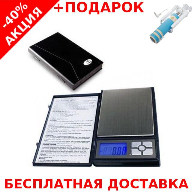 Весы карманные ювелирные MH267 (500/0,01) digital pocket jewelry scales 500g 0.1g + монопод для селфи