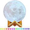 Настольный светильник Луна с сенсорным управлением 3D Moon Lamp Ambient Light, фото 5
