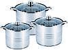 Кастрюли кухонные набор Benson BN-215 6 предметов 3 слойное дно индукция, фото 3