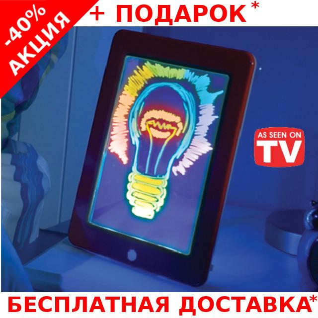Детский световой 3D планшет для рисования Magic Pad Glowing Art