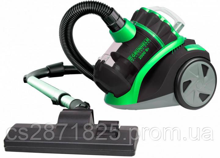 Пылесос GRUNHELM GVC8210G  (черно-зеленый) циклон 2000Вт