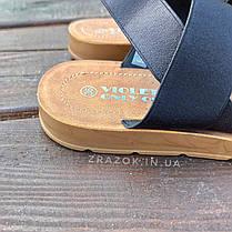 Чорні босоніжки, шльопанці тапки жіночі сандалі на резинці Чорні босоніжки шльопанці тапки сандалі, фото 2