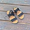 Чорні босоніжки, шльопанці тапки жіночі сандалі на резинці Чорні босоніжки шльопанці тапки сандалі, фото 3