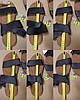 Чорні босоніжки, шльопанці тапки жіночі сандалі на резинці Чорні босоніжки шльопанці тапки сандалі, фото 5