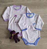 Боди для новорожденных длинный рукав Мишка. Польша. Боді для немовлят, фото 1