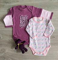 Боди для новорожденных длинный рукав Принцесса или Полоски Польша. Боді для немовлят, фото 1