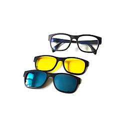 Очки солнцезащитные антибликовые Magic vision 5 в 1, фото 3