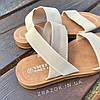 Бежеві босоніжки, шльопанці тапки жіночі сандалі на резинці бежеві босоніжки шльопанці сандалі !@#, фото 3