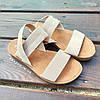 Бежеві босоніжки, шльопанці тапки жіночі сандалі на резинці бежеві босоніжки шльопанці сандалі !@#, фото 4