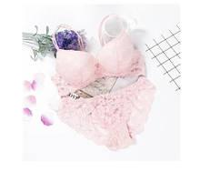 Комплект нижнего белья push-up светло-розовый - лиф 75B, трусы 42-44 размер, (75%полиэстер, 25% эластан)