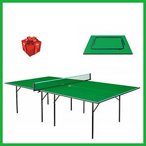Акция! Теннисный стол для пинг понга для  помещений  GSI-sport Хобби Лайт Hobby Light Gk-1 зеленый